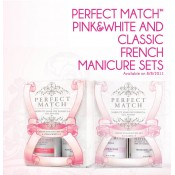 French Manicure Set Pink & White, Pink Clarity 15ml, Flawless White 15ml